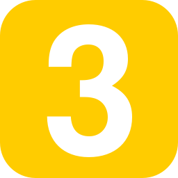 NUmber 3 yellow